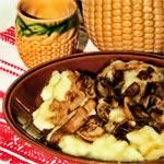 Pilze mit Nudeln aus Kartoffeln