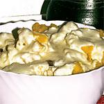 Maissterz (Mais Polenta) mit Kartoffeln und Sahne